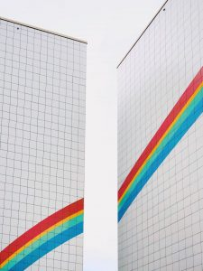 Rainbow in grid drawing