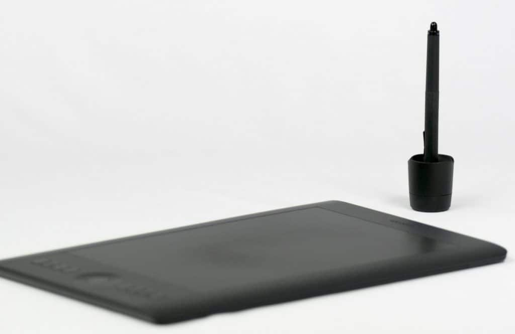 Drawing Pad and stylus in holder