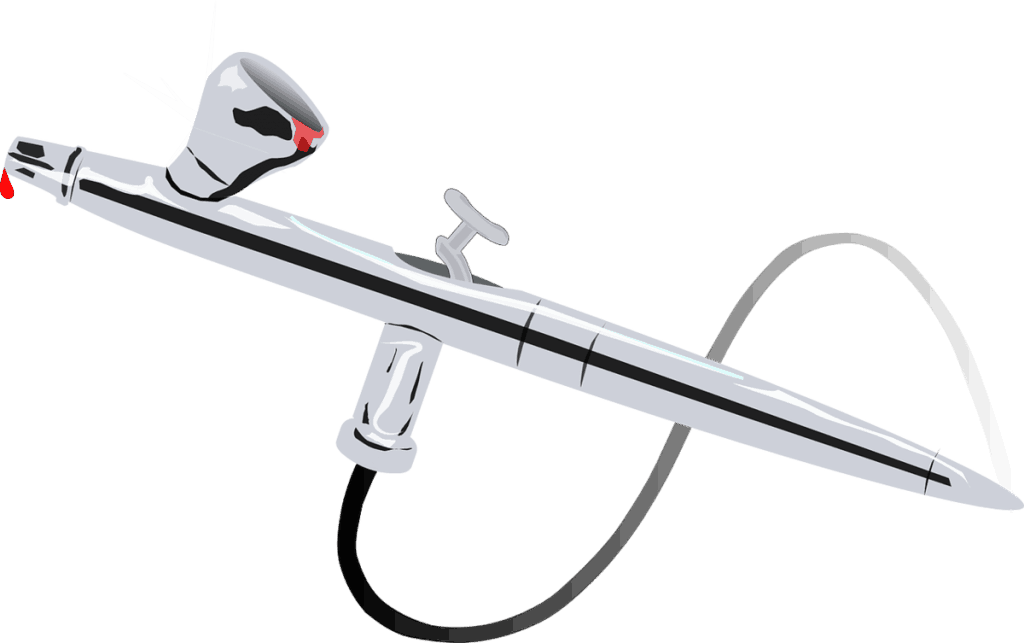 Rendering of an airbrush