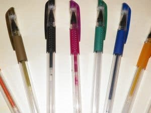 Picture of some gel pens